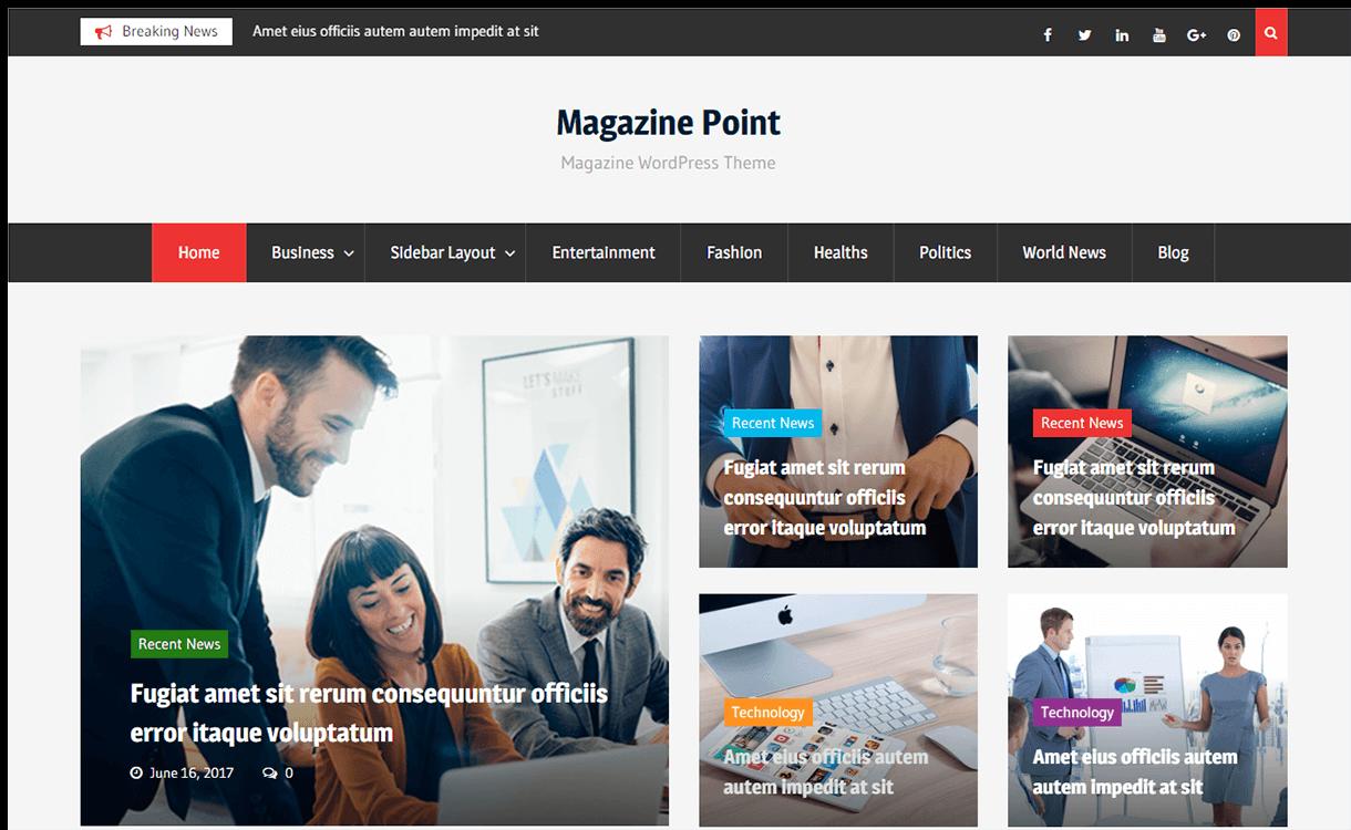 Magazine Point- Free Magazine WordPress Theme