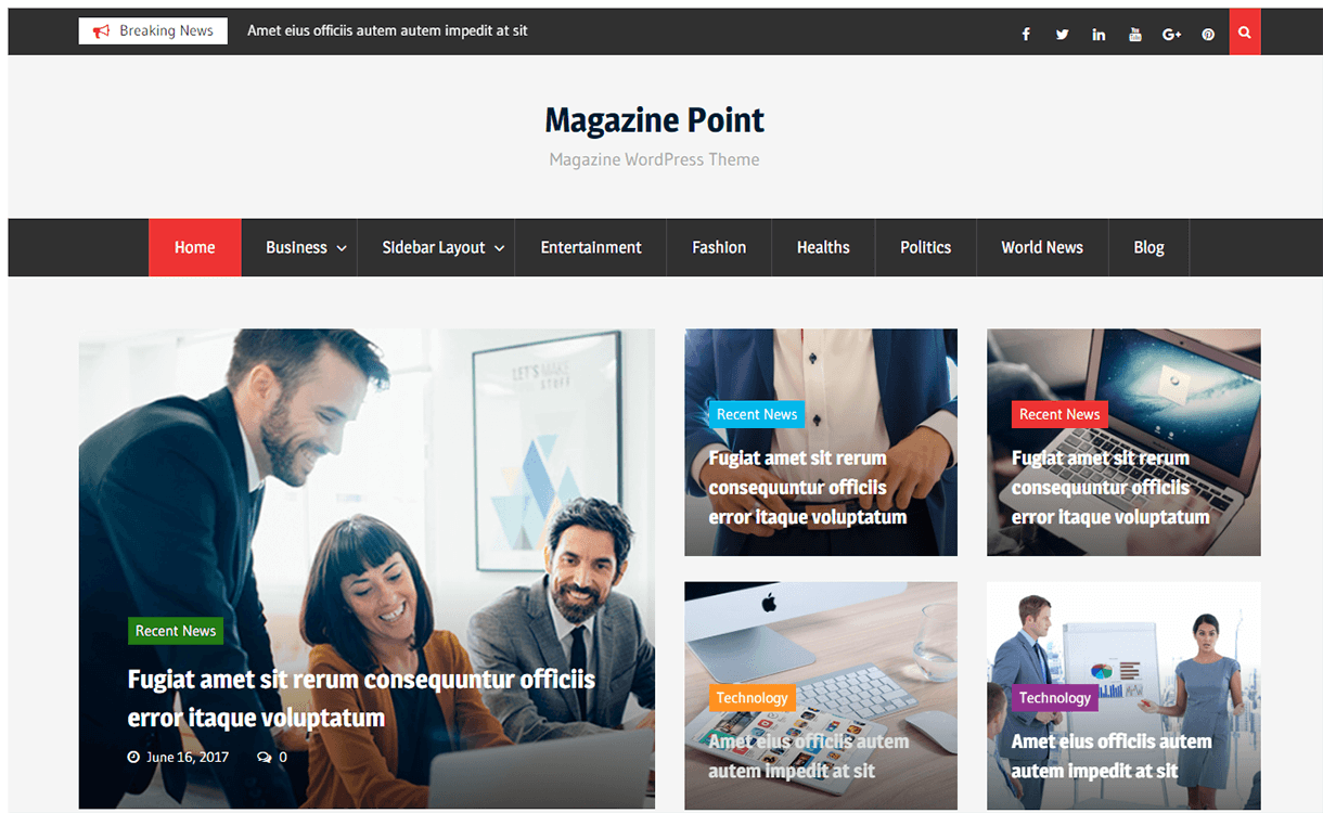 magazine point magazine wordpress theme - 25+ Best Free Magazine WordPress Themes For 2019