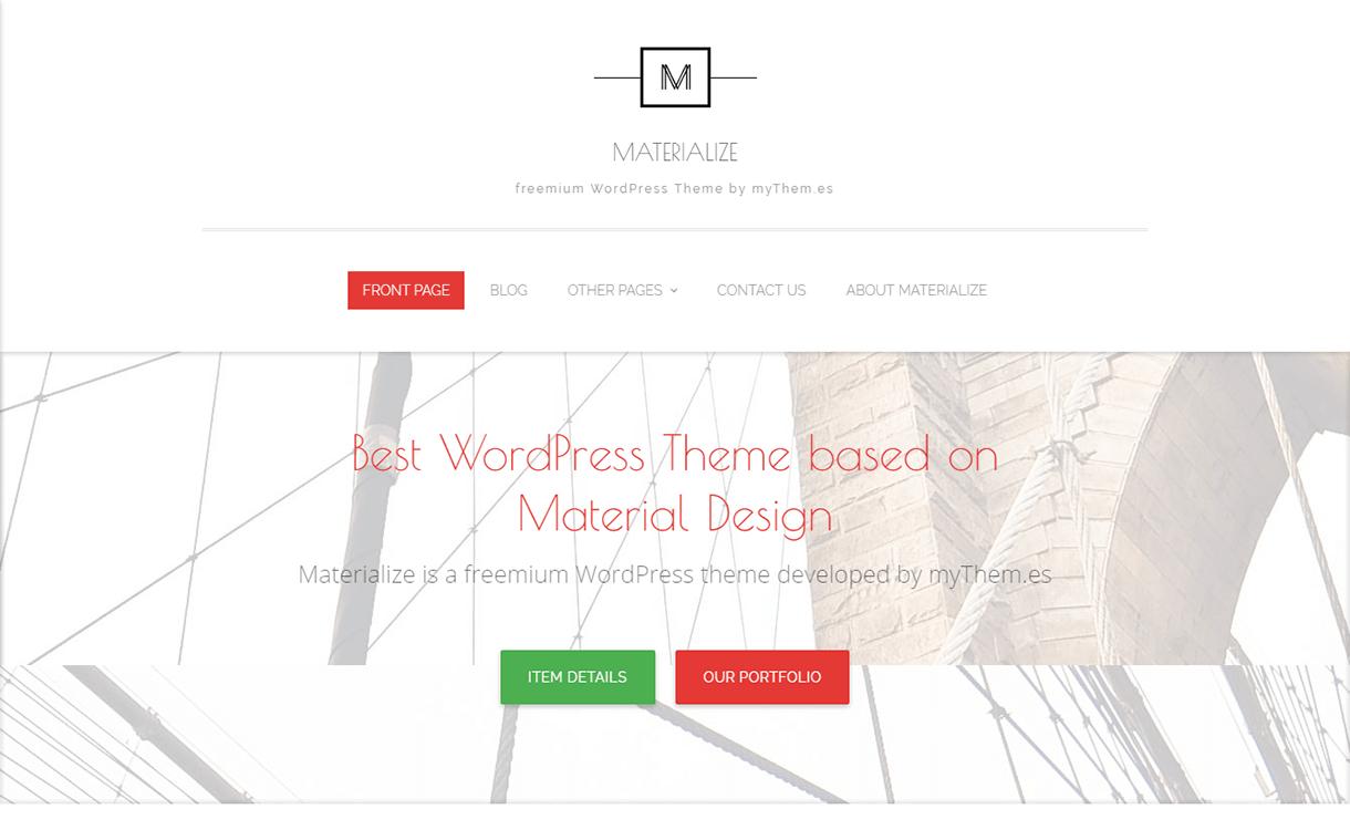 Materialize-WordPress Material Design Theme