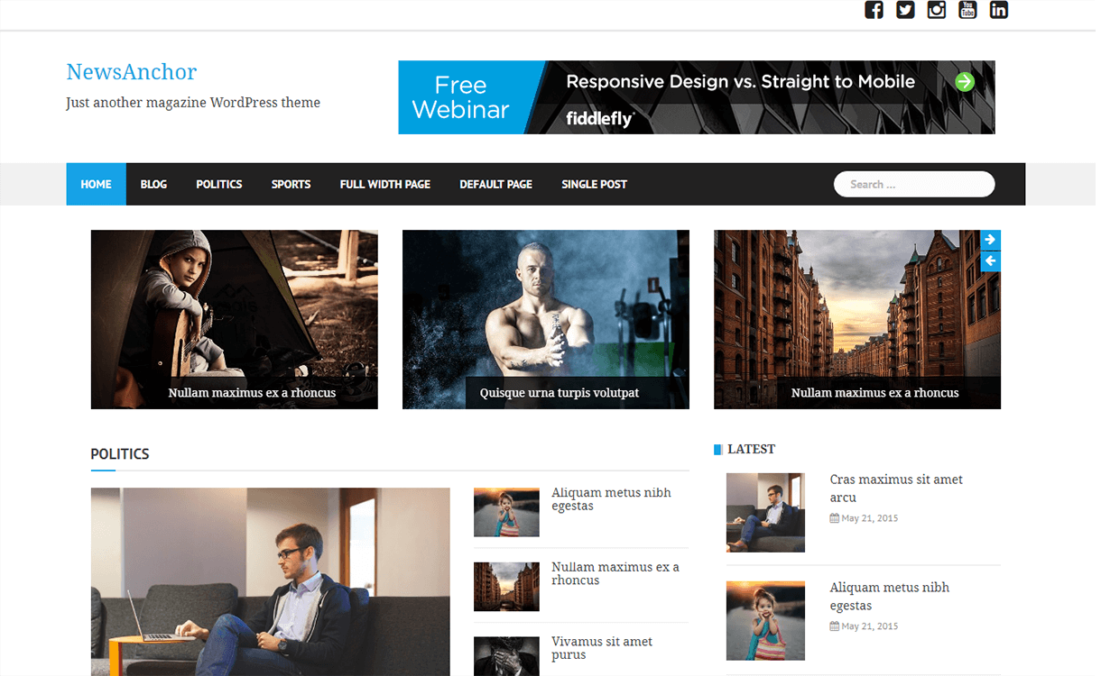 newsanchor magazine wordpress theme - 25+ Best Free Magazine WordPress Themes For 2019