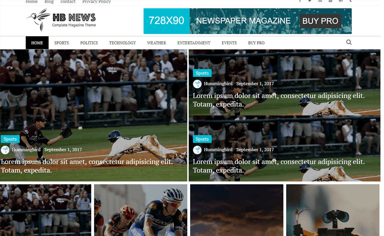 Newspaper Magazine-Free Magazine WordPress Theme
