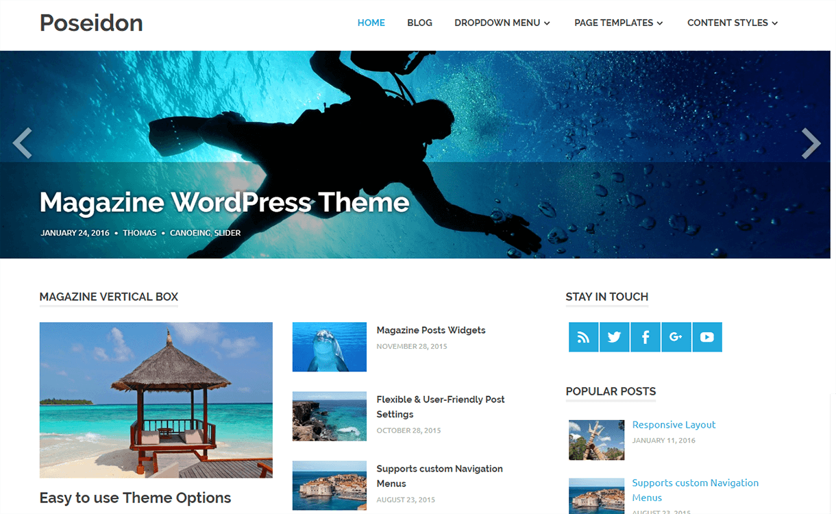 Poseidon-Free Magazine WordPress Theme