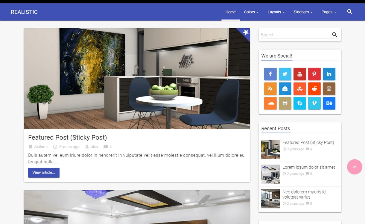 realistic wordpress material design - 15 Best Free Material Design WordPress Themes for 2019
