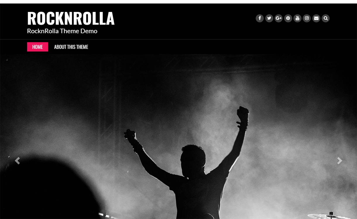 rock n rolla wordpress material design - 15 Best Free Material Design WordPress Themes for 2019