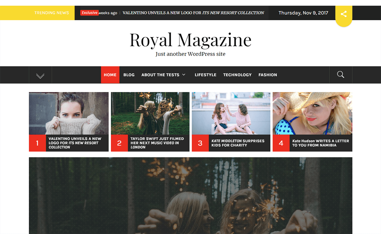 royal magazine magazine wordpress theme 1 - 25+ Best Free Magazine WordPress Themes For 2019