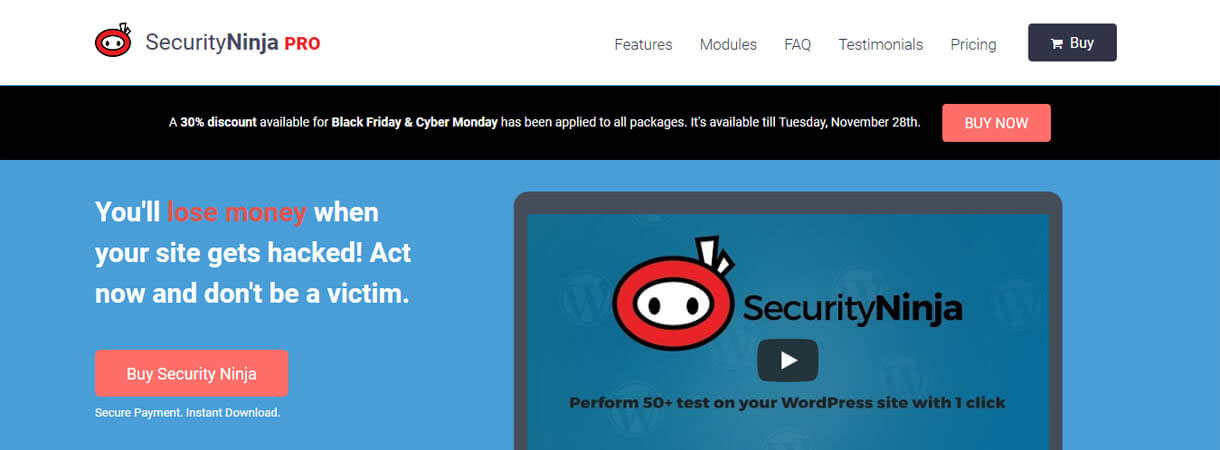 security ninja pro wordpress deal - Best WordPress Deals for Black Friday and Cyber Monday 2017