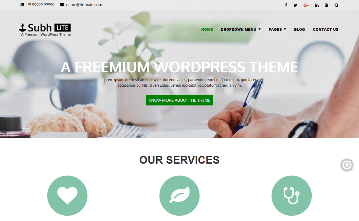 subh lite free wordpress theme - 21+ Best Free WordPress Themes November 2017