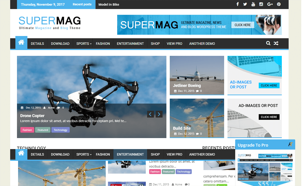 SuperMag-Free Magazine WordPress Theme