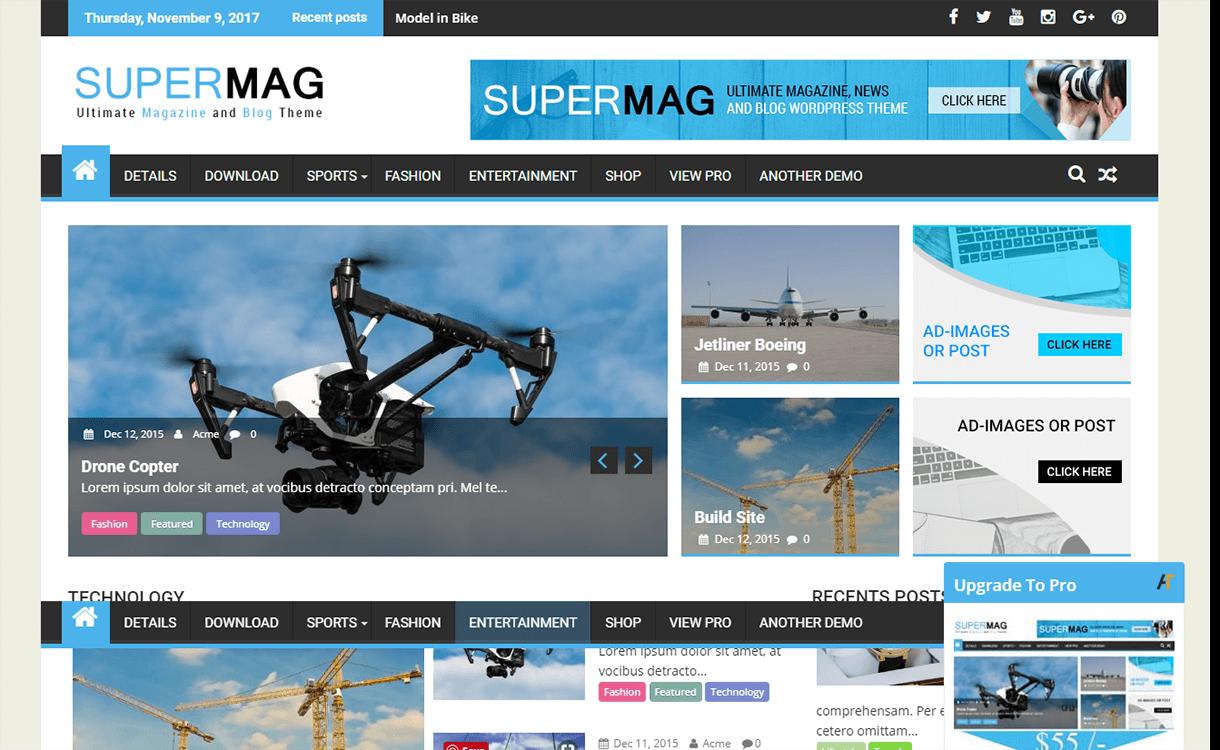 supermag magazine wordpress theme - 25+ Best Free Magazine WordPress Themes For 2019