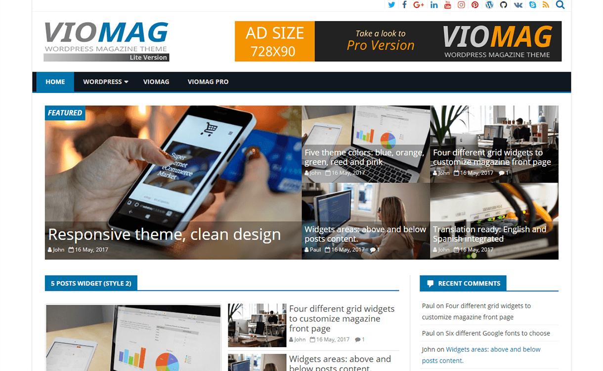 viomag magazine wordpress theme - 25+ Best Free Magazine WordPress Themes For 2019