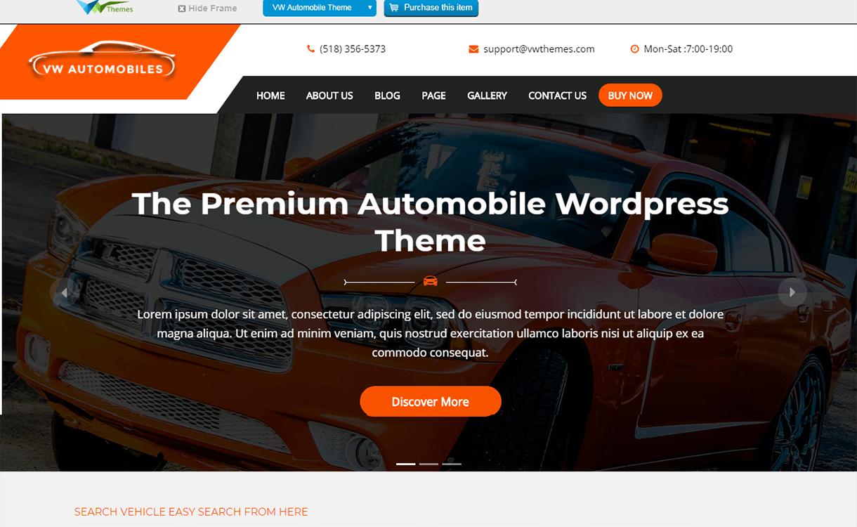 vw automobile lite free wordpress theme - 21+ Best Free WordPress Themes November 2017