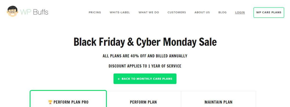 wp buffs wordpress deals 2 - Best WordPress Deals for Black Friday and Cyber Monday 2017