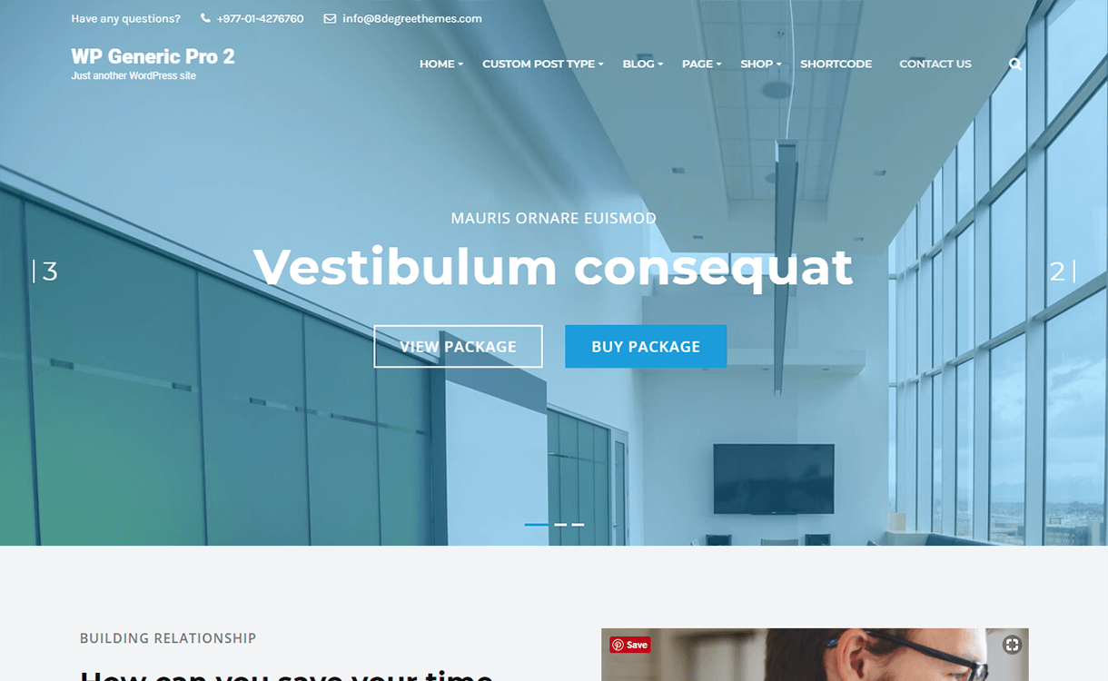WP Generic Pro-Best Premium WordPress Business Agency Themes