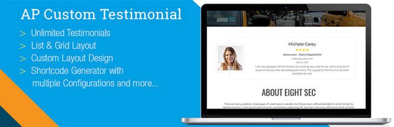 AP Custom Testimonial - Free WordPress Testimonial Plugins