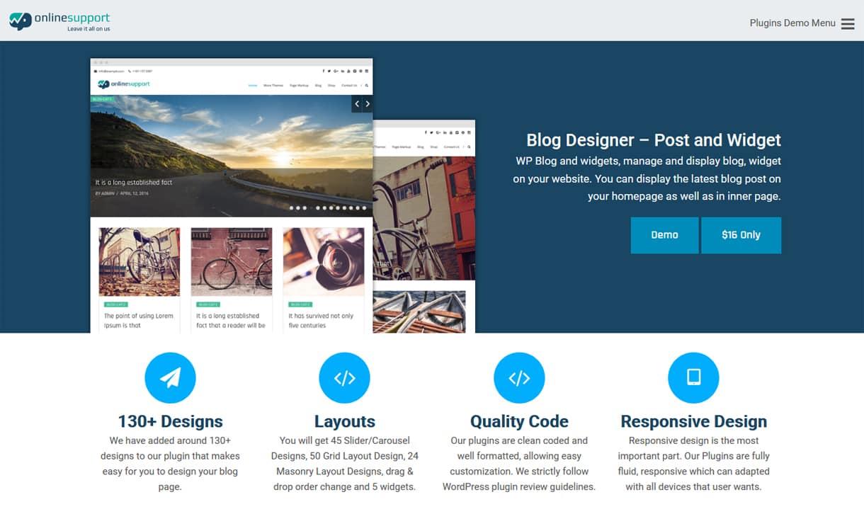 blog designer widget and posts pro premium wordpress blog manager plugins - 5+ Best WordPress Blog Manager Plugins