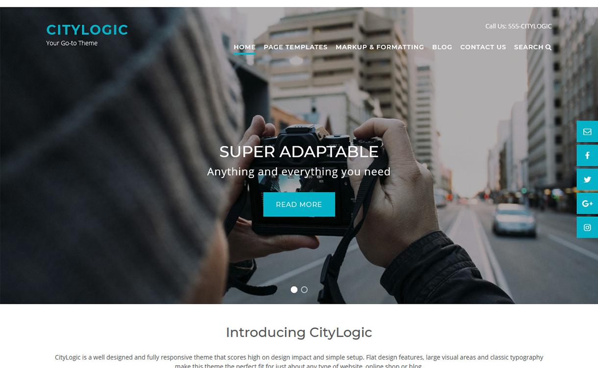 City Logic-Best Free WordPress Themes December 2017