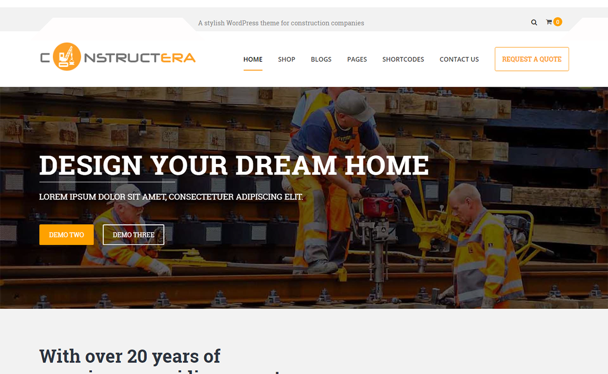 constructera premium construction wordpress theme - 25+ Best Real Estate WordPress Themes Free & Premium