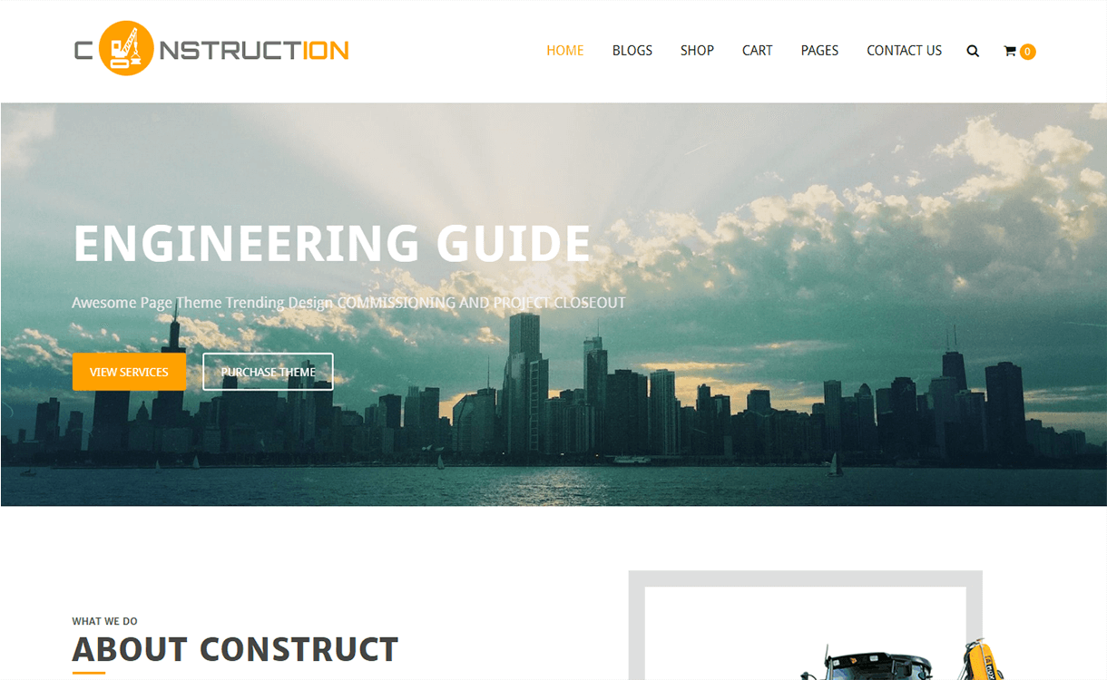 Construction Lite-Best Free WordPress Themes December 2017
