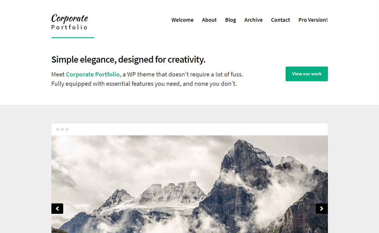 corporate portfolio free elegant wordpress theme - 15 Best Free WordPress Portfolio Themes For 2019