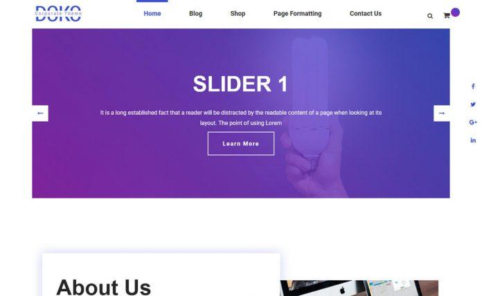 Doko - Free Material Design WordPress Corporate Theme