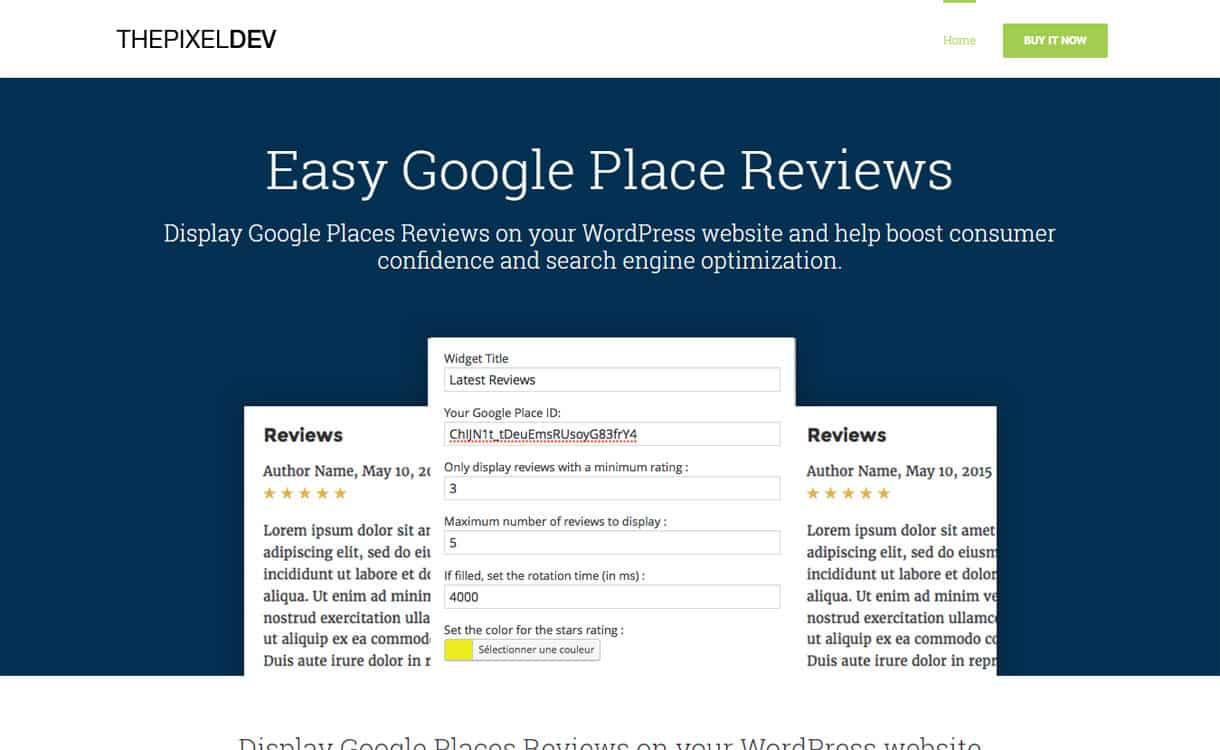 easy google places reviews google place business review premium wordpress plugins - 5+ Best WordPress Google Places/Business Review Plugins