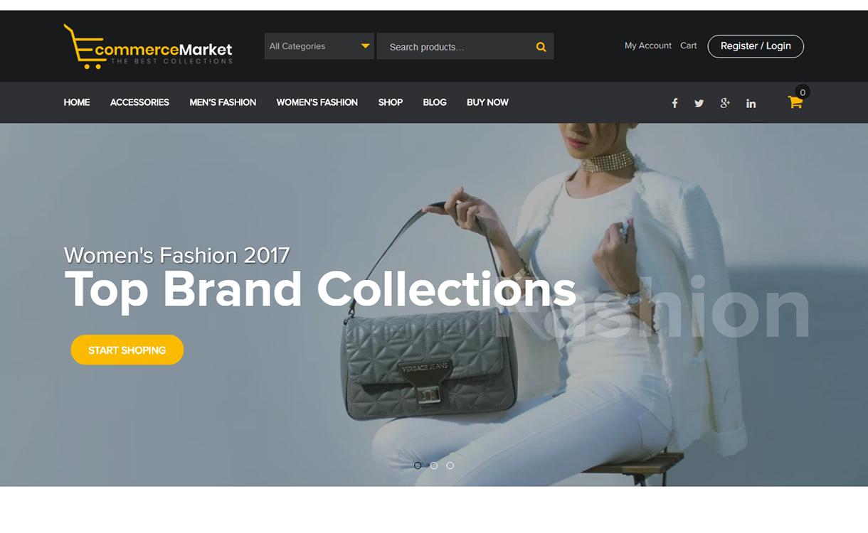 eCommerce Market-Best Free WordPress Themes December 2017