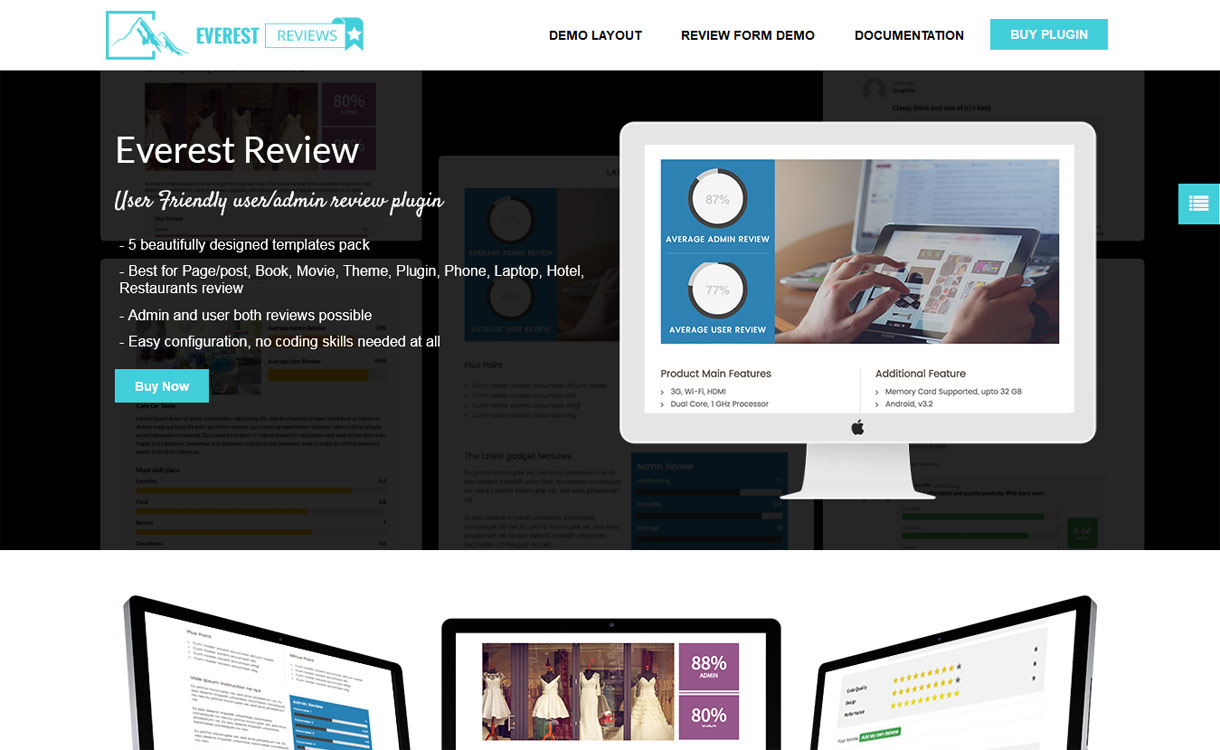 Everest Review - WordPress User Admin Review Plugin