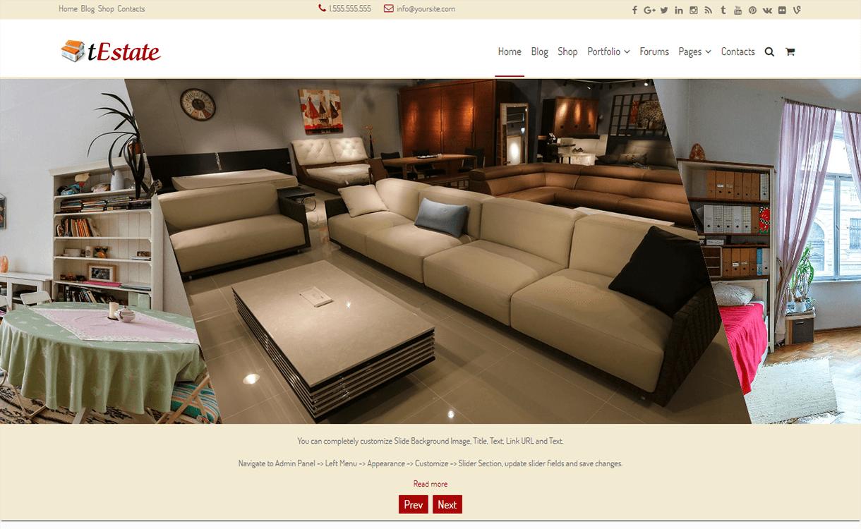 festate best free premium real estate wordpress theme 1 - 25+ Best Real Estate WordPress Themes Free & Premium
