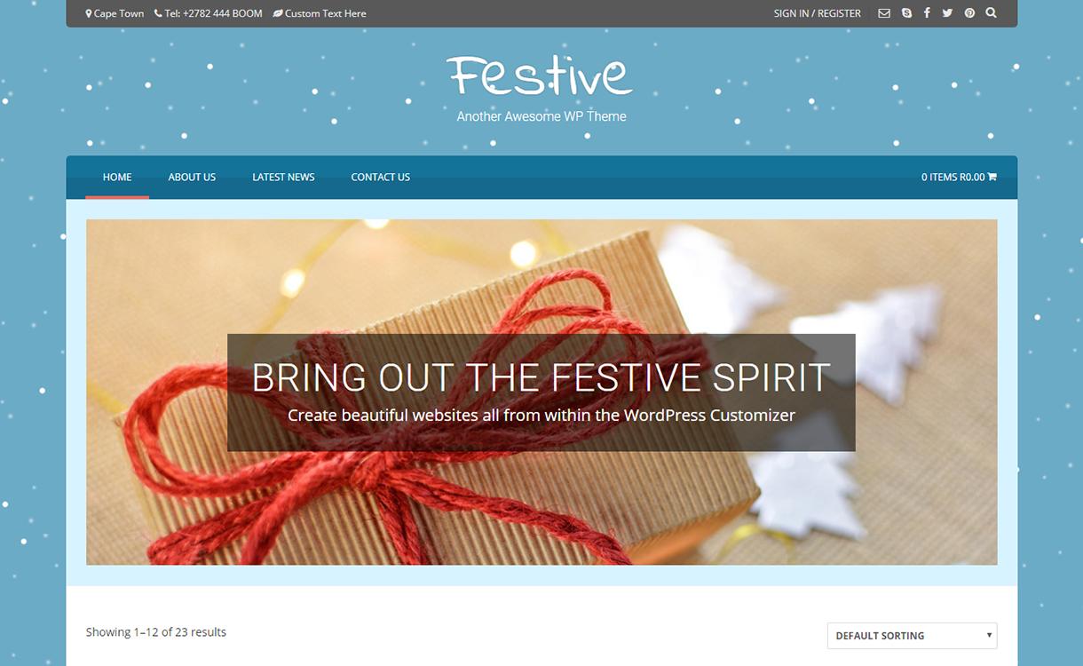 Festive-Best Free WordPress Themes December 2017