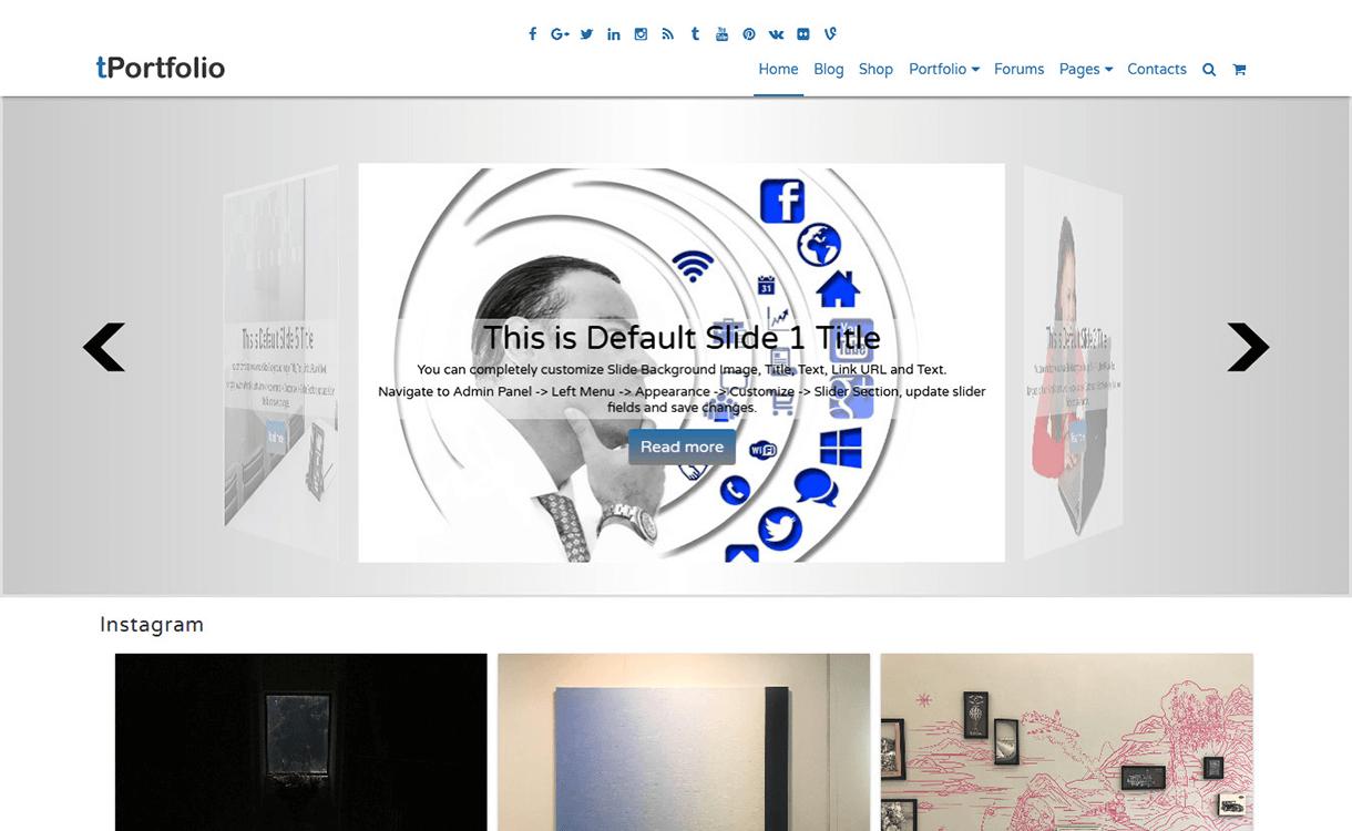 fPortfolio-Free WordPress Portfolio Themes
