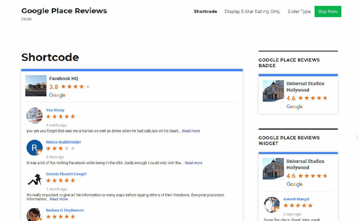 Google Place Review Plugin - Google Place Business Review Premium WordPress Plugins