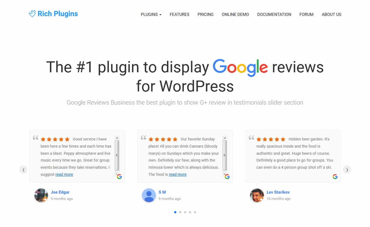 google review business google place business review premium wordpress plugins - 5+ Best WordPress Google Places/Business Review Plugins
