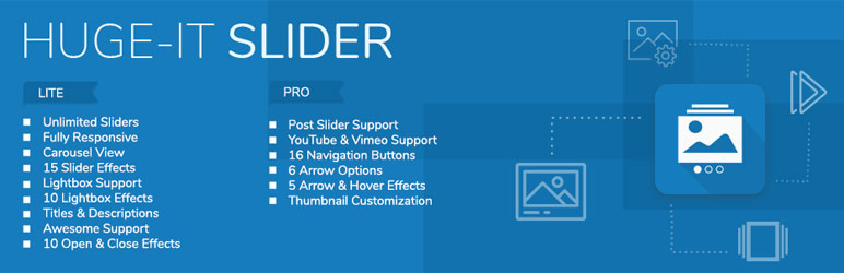 huge it slider wordpress slider plugin - 10+ Best Free WordPress Slider Plugins