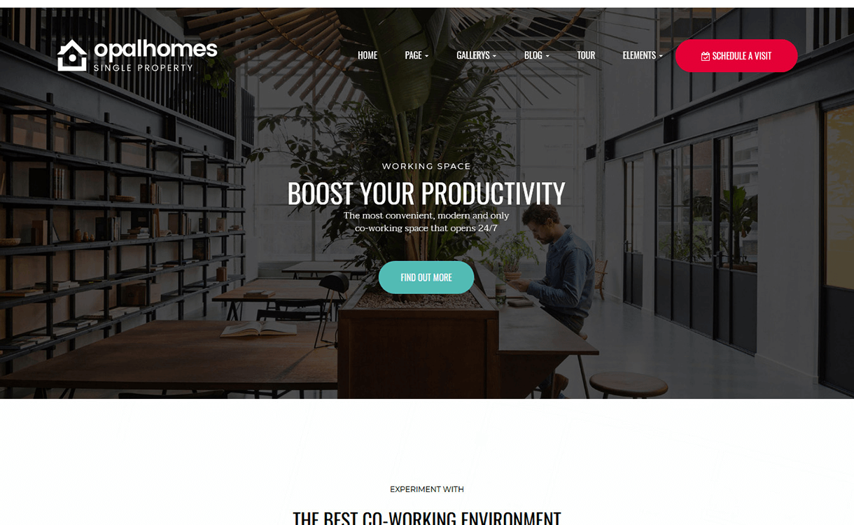 OpalHomes-Best Free Premium Real Estate WordPress Themes