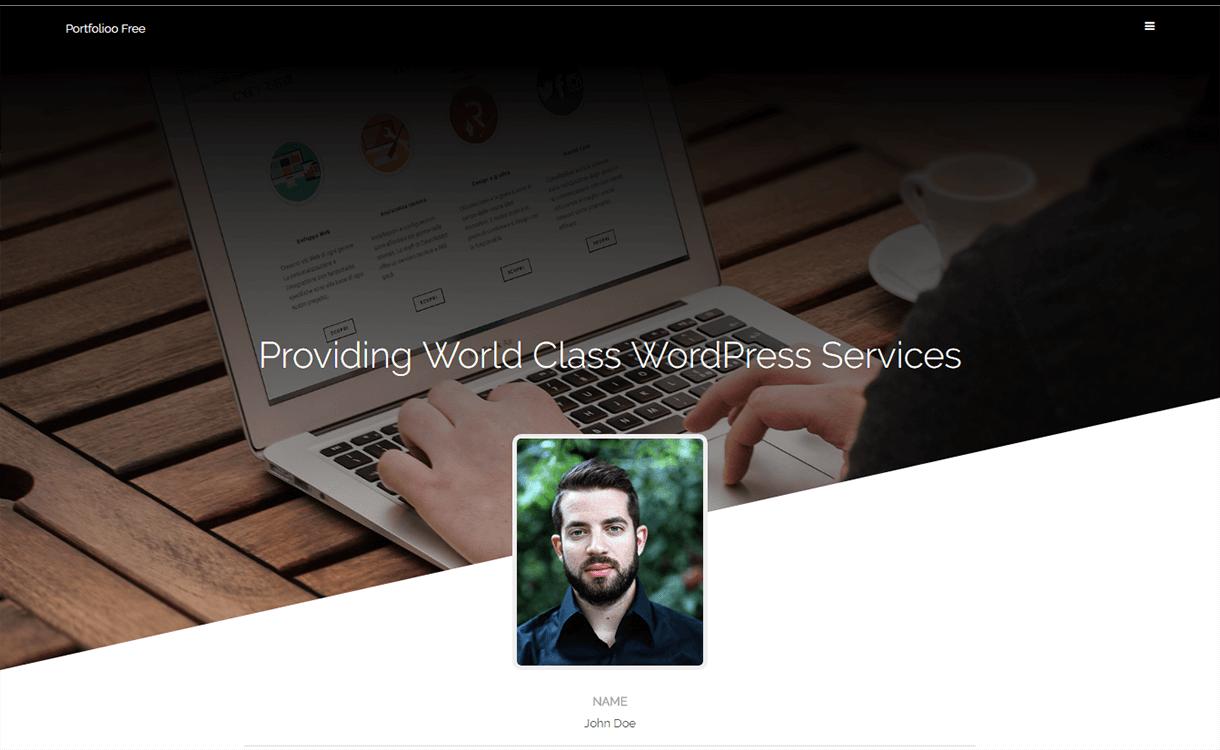 portfolioo free wordpress portfolio theme - 15 Best Free WordPress Portfolio Themes For 2019