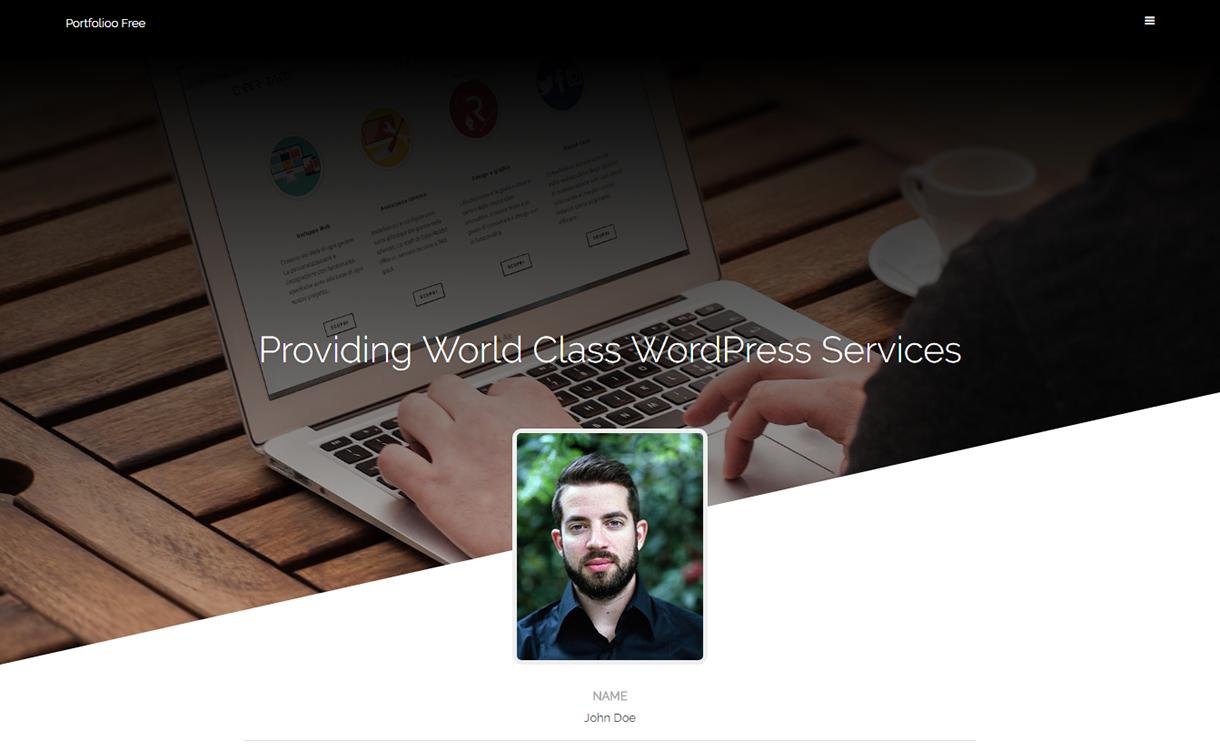 portfolioo free wordpress theme december - 20 Best Free WordPress Themes December 2017