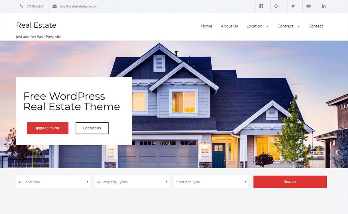 real estate lite best free premium real estate wordpress theme 1 - 25+ Best Real Estate WordPress Themes Free & Premium