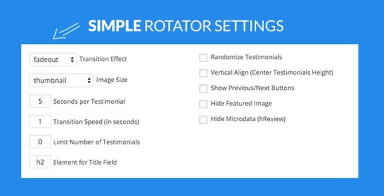 rotator option - 5+ Best Free WordPress Testimonial Plugins