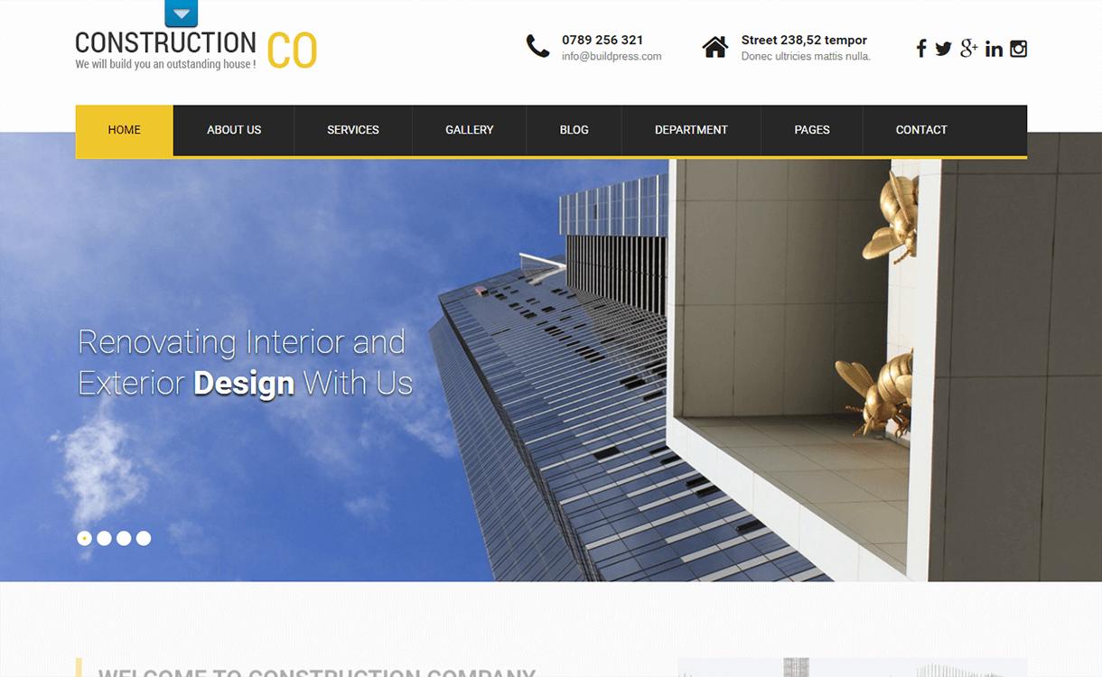 skt construction lite best free premium real estate wordpress theme - 25+ Best Real Estate WordPress Themes Free & Premium