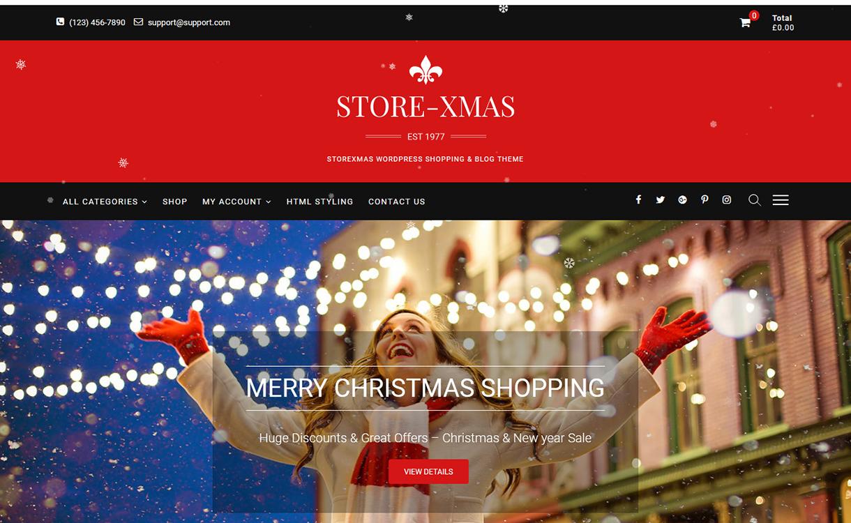 StoreXmas-Best Free WordPress Themes December 2017