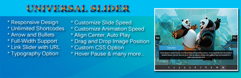 Universal Slider - WordPress Slider Plugin