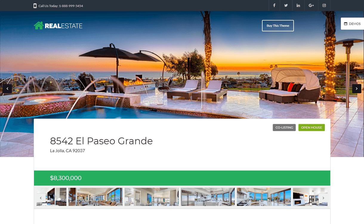 wp pro real estate7 best free premium real estate wordpress theme - 25+ Best Real Estate WordPress Themes Free & Premium