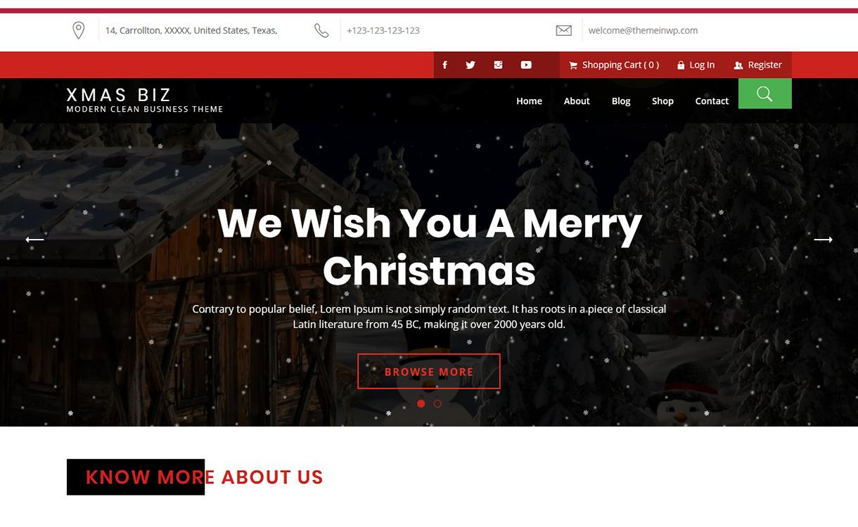 xmas biz free wordpress theme december - 20 Best Free WordPress Themes December 2017