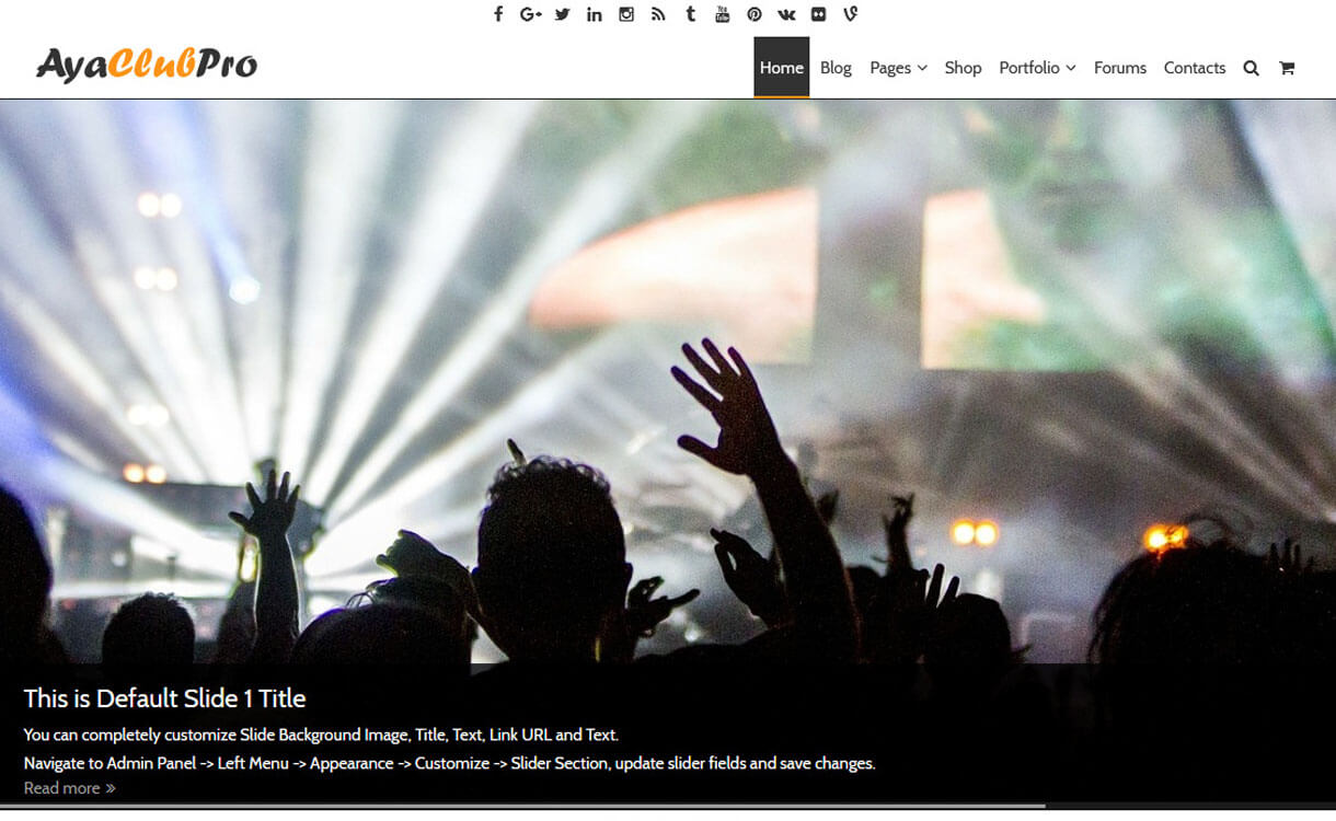 AyaClub-Best Free WordPress Theme January 2018