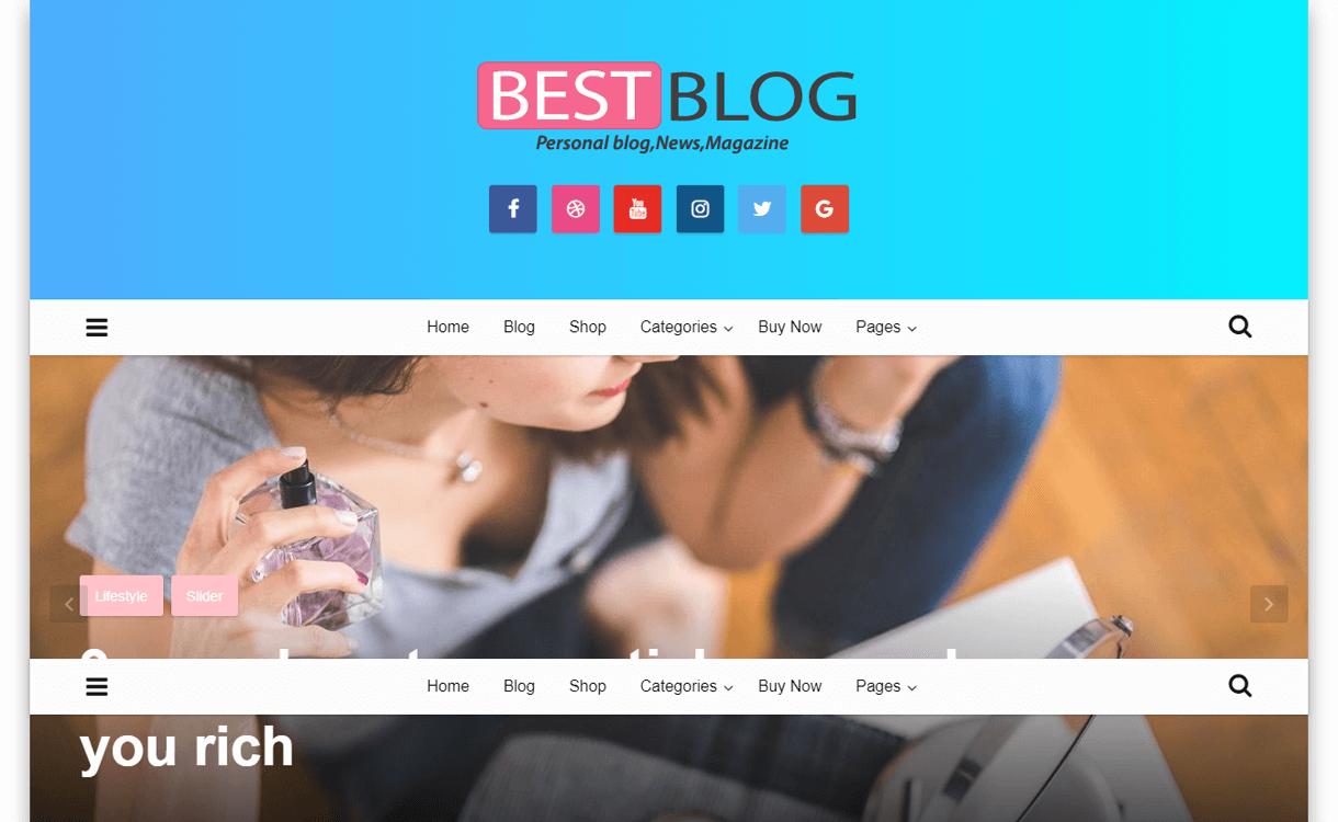 Best Blog-Best Free WordPress Theme January 2018