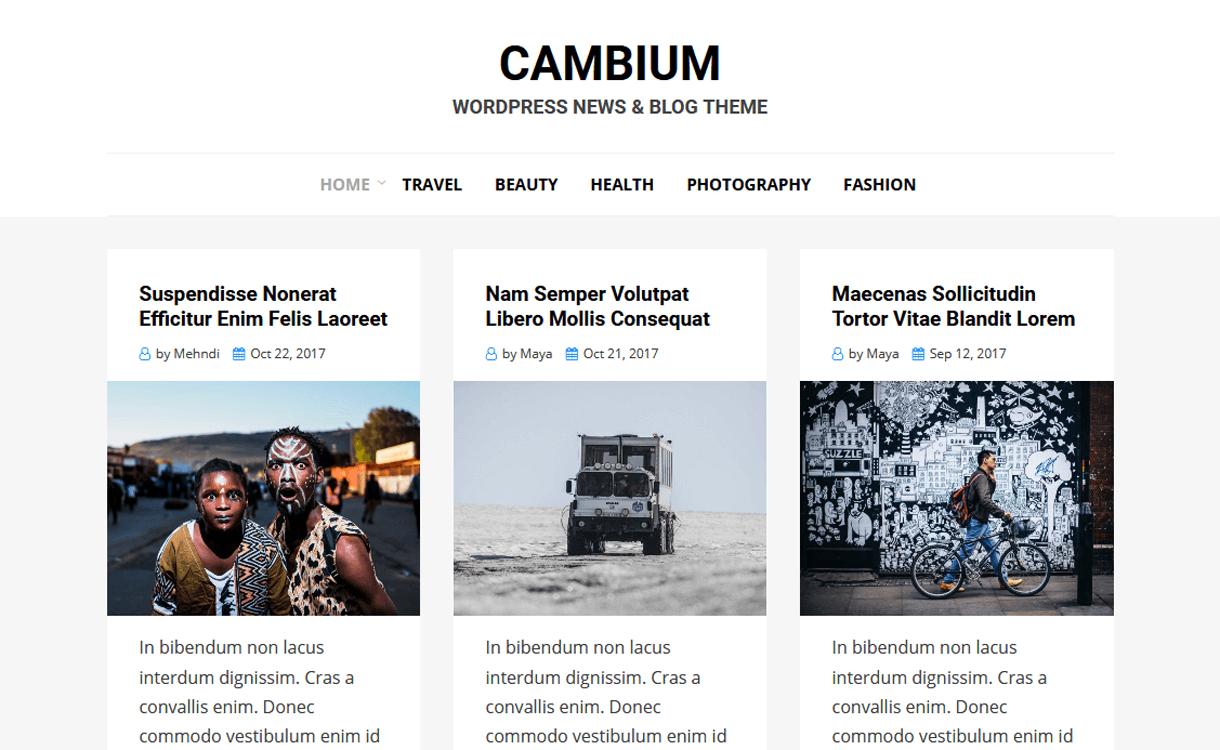 Cambium-Best Free WordPress Theme January 2018
