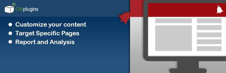 CM Notification Bar - Best Free WordPress Notification Bar Plugins