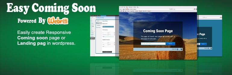 Easy Coming Soon- Best Free WordPress Coming Soon/Maintenance Mode Plugins