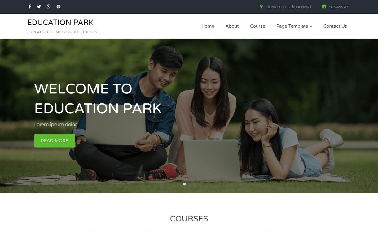 Education Park-Best Free WordPress Theme January 2018