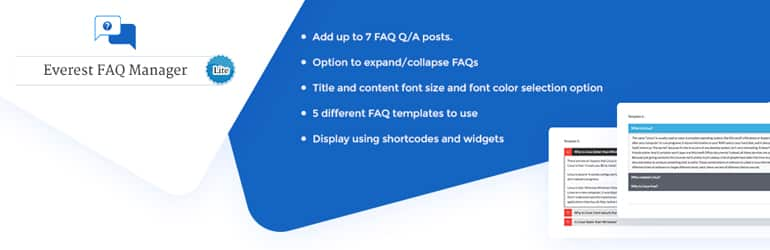 Everest FAQ Manager Lite - Free WordPress FAQ Plugin